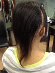 Client with Alopecia before having extensions