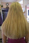 Very long thick hair, after having extensions