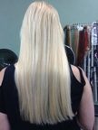 Revitalized and beautiful after having extensions