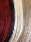Various colors of hair can be used in extensions